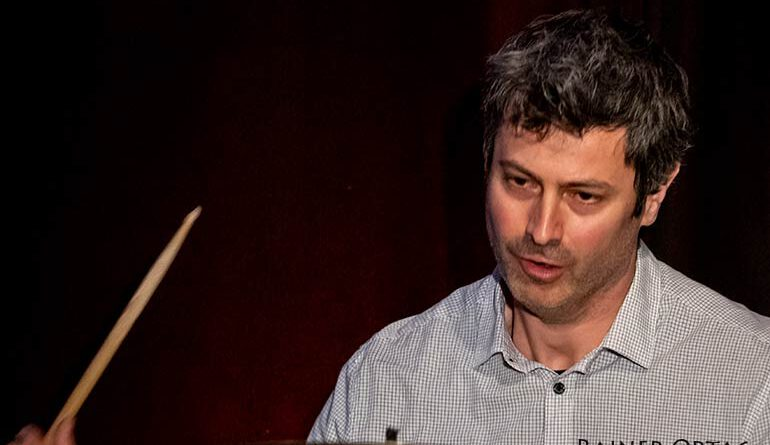 Axel Pape mit dem Sandi Kuhn Quartett beim Jazzclub Tübingen im Club Voltaire 2021