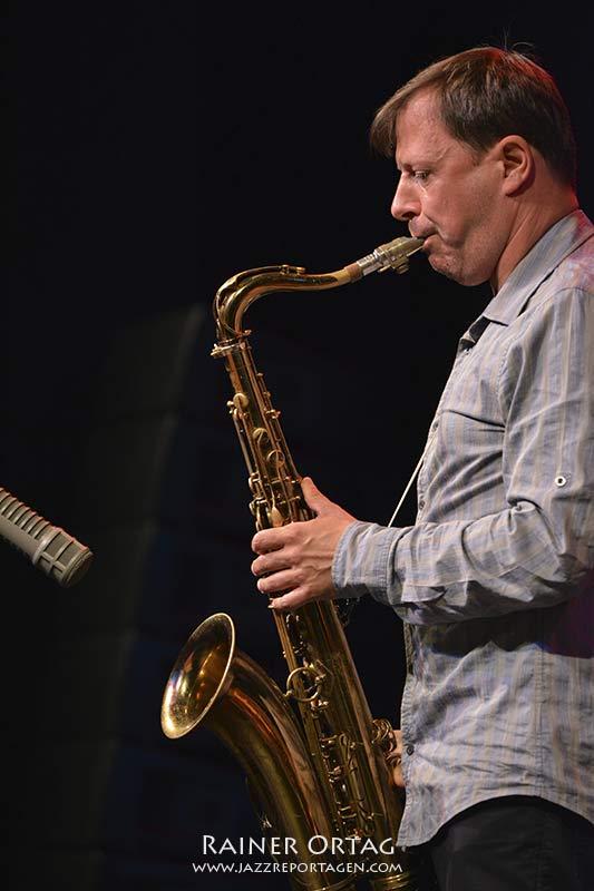 Chris Potter mit dem Pablo Held Trio beim Jazzfestival Esslingen 2016