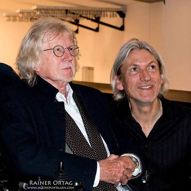Eberhard Weber hier mit Magnus Öström beim Jazzfestival Esslingen 2019