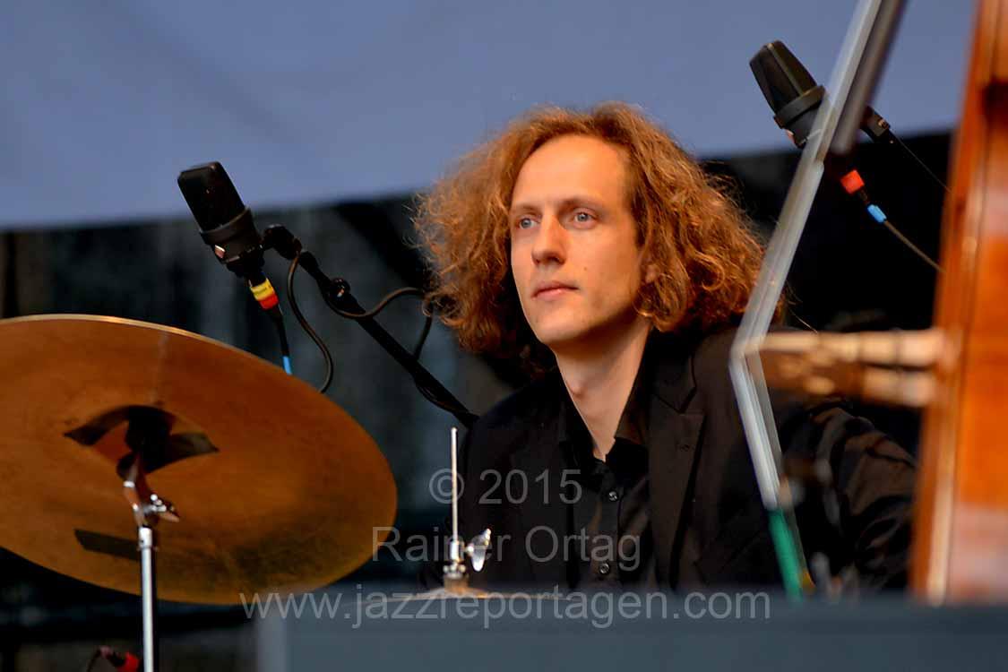 Ferenc Mehl beim JazzOpenAir in Rottenburg