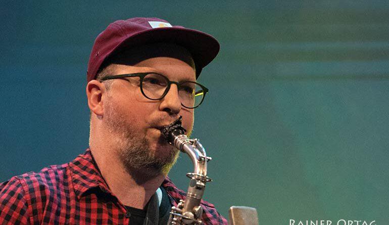 Johannes Ludwig mit Heidi Bayer bei der jazzahead 2021 in Bremen