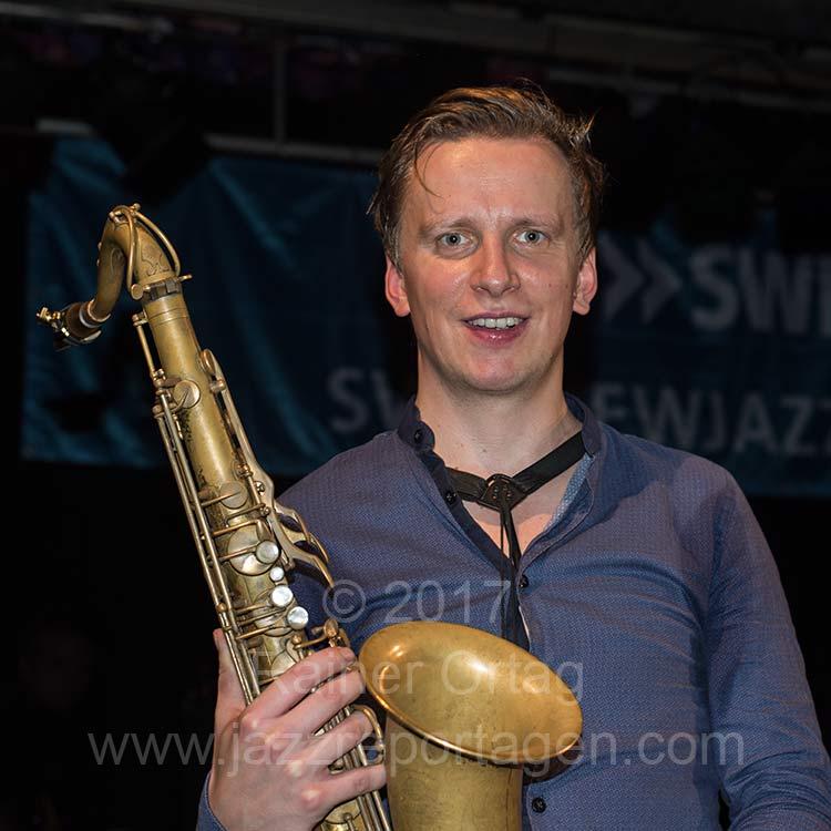 Sebastian Gille beim SWR NEWJazz Meeting im Sudhaus Tübingen 2017