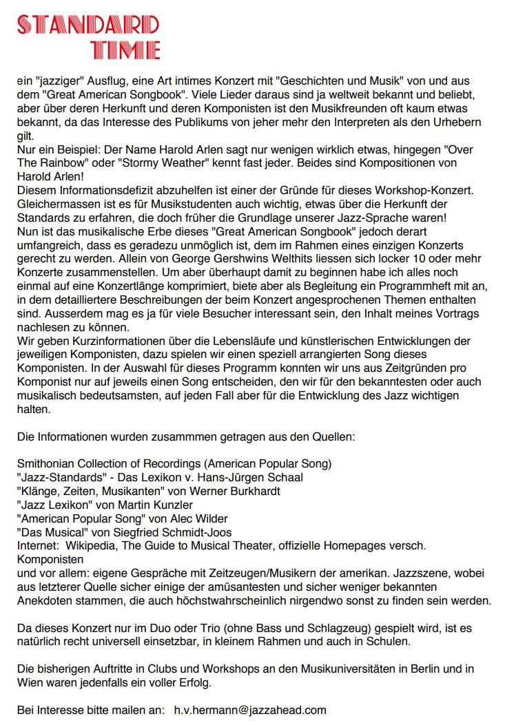 """Ein """"jazziger"""" Ausflug von Heinz von Hermann"""