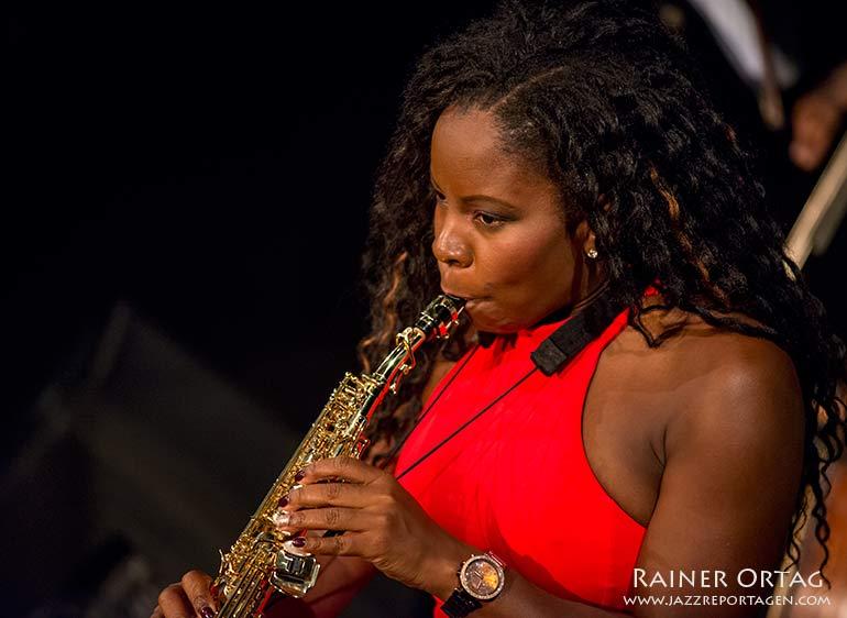 Tia Fuller im Musicclub Porgy & Bess Wien 2016