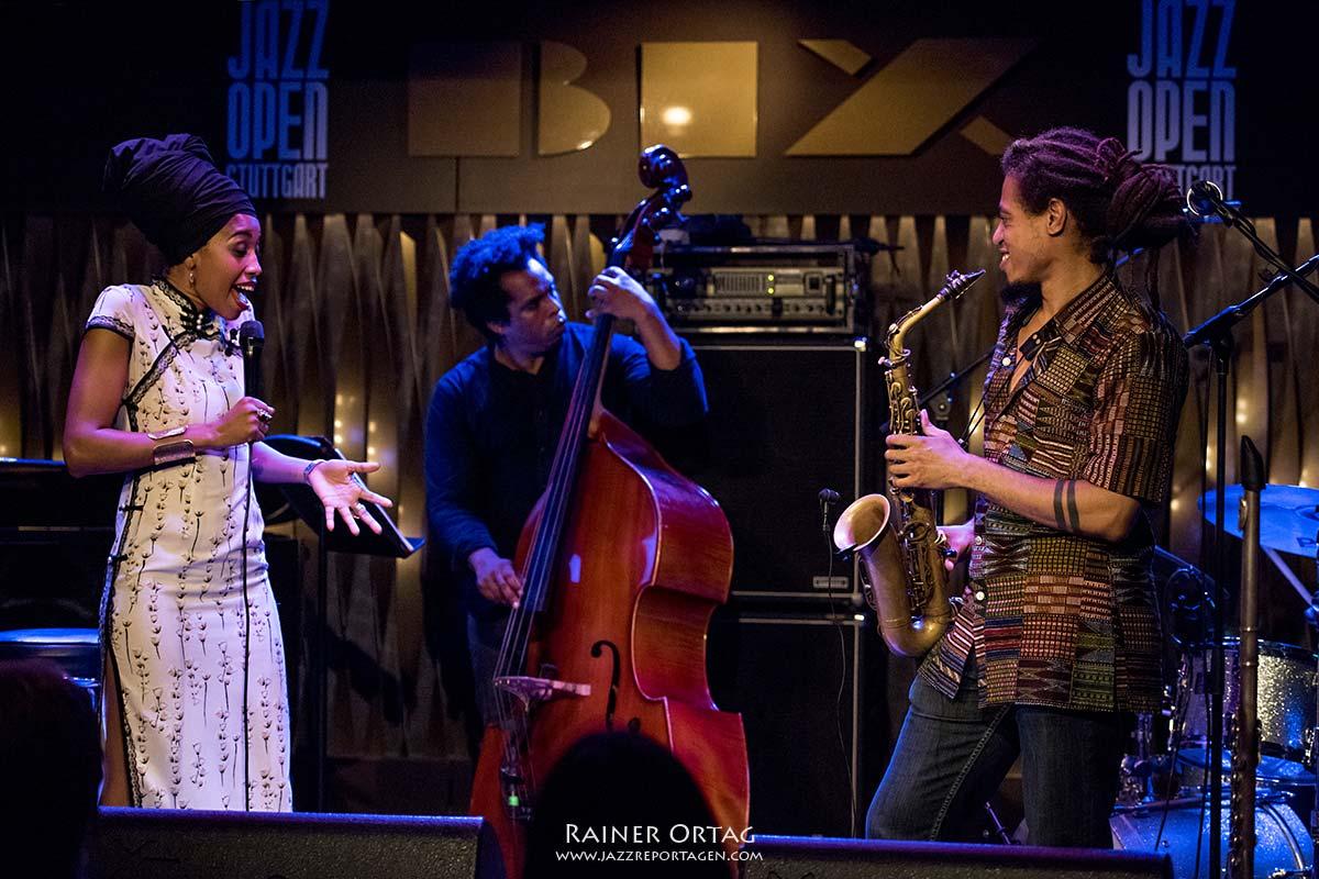 Jazzmeia Horn im Jazzclub Bix bei der jazzopen Stuttgart 2019