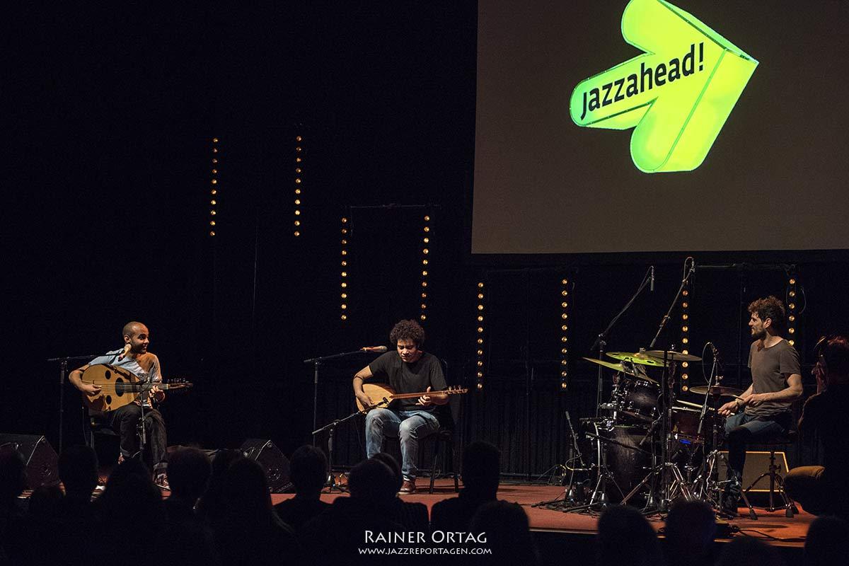 Trio Abozekrys bei der Overseas Night der Jazzahead! 2019