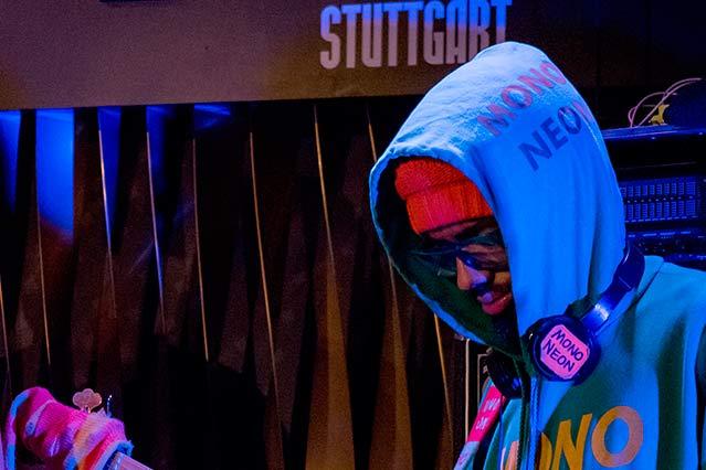 """Dwayne """"MonoNeon"""" Thomas mit Ghost Note bei der jazzopen Stuttgart 2019 im Jazzclub Bix"""